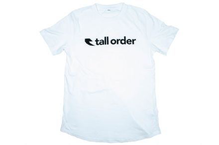 Tall Order Font T-Shirt - White Small